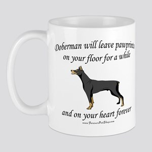 Doberman Pawprints Mug