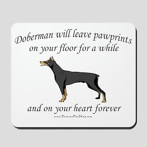 Doberman Pawprints Mousepad