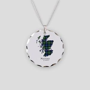 Map-MurrayAtholl Necklace Circle Charm