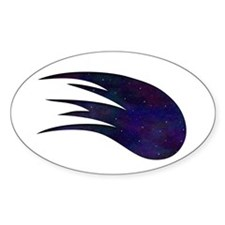 Space Comet Oval Sticker