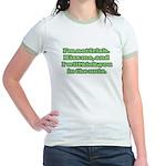 I'm NOT Irish - Don't Kiss Me! Jr. Ringer T-Shirt