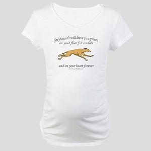 Greyhound Pawprints Maternity T-Shirt