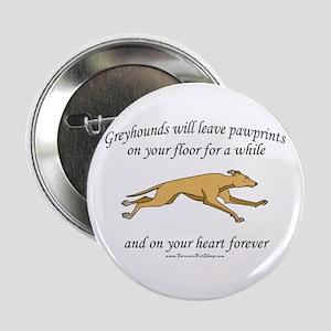"""Greyhound Pawprints 2.25"""" Button"""