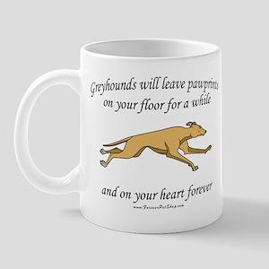Greyhound Pawprints Mug