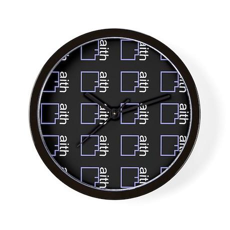 By Faith (black) Wall Clock