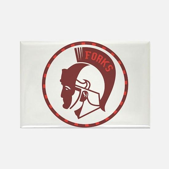 Twilight Forks Spartans Mascot Rectangle Magnet
