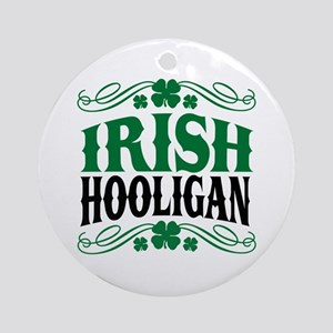 Irish Hooligan Ornament (Round)