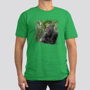 Jungle Gorilla Men's Fitted T-Shirt (dark)