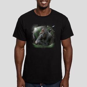 Space Gorilla Men's Fitted T-Shirt (dark)
