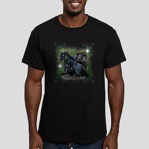 Black Jaguar Men's Fitted T-Shirt (dark)
