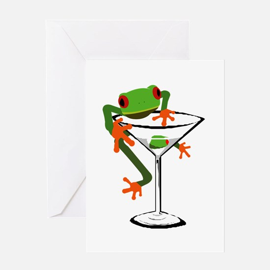 Frog and Martini Greeting Card
