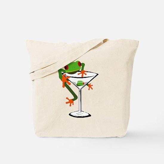 Frog and Martini Tote Bag
