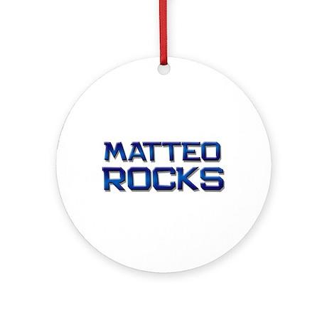 matteo rocks Ornament (Round)
