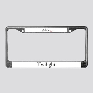 Twilight Alice Fan License Plate Frame