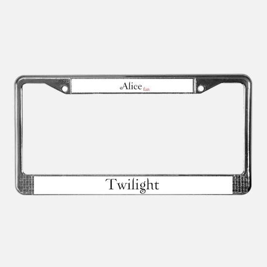 Twilight Alice Fan License Plate Frame
