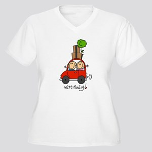 Car We're Moving Women's Plus Size V-Neck T-Shirt