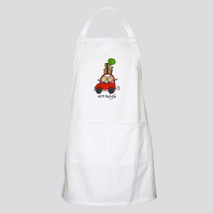 Car We're Moving BBQ Apron