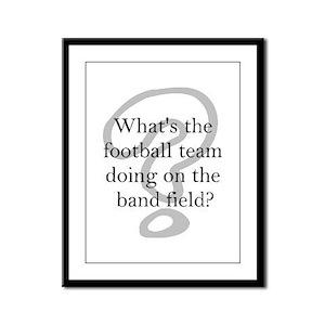 Band Framed Panel Print