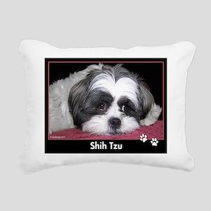 Shih Tzu Dog Photo Rectangular Canvas Pillow