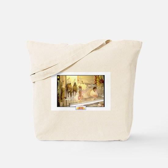 Painted Italian Butcher Shop Tote Bag
