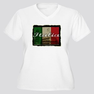 Italian pride Women's Plus Size V-Neck T-Shirt