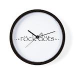 Rock Dots Wall Clock