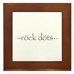 Rock Dots Framed Tile