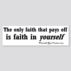 Real Faith Bumper Sticker