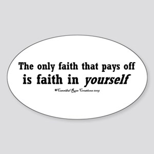 Real Faith Oval Sticker