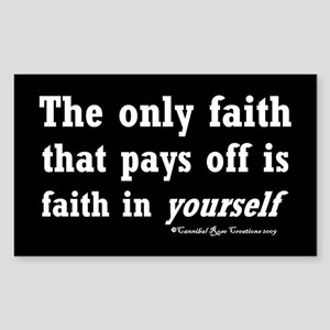 Real Faith Sticker 2 (Rectangle)
