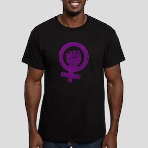 Feminist Power Men's Fitted T-Shirt (dark)