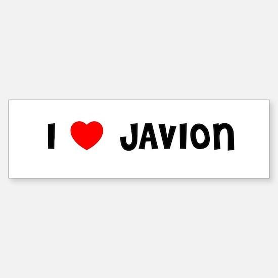 I LOVE JAVION Bumper Bumper Bumper Sticker