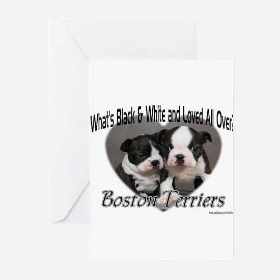 Boston Terrier Love Greeting Cards (Pk of 10)