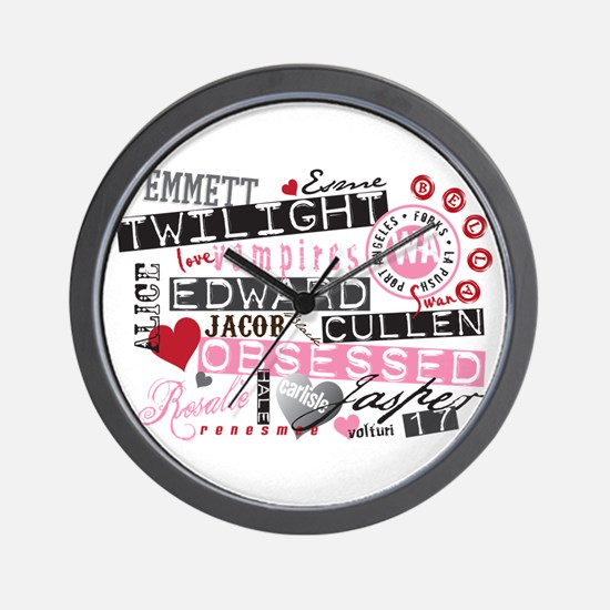 Unique Twilight obsessed Wall Clock