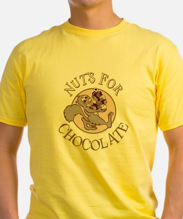 Nuts For Chocolate Ash Grey T-Shirt