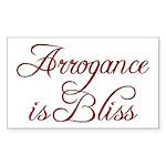 Arrogance Rectangle Sticker 10 pk)