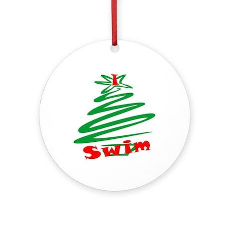 i swim christmas ornaments ornament round