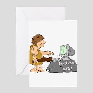Caveman Greeting Card