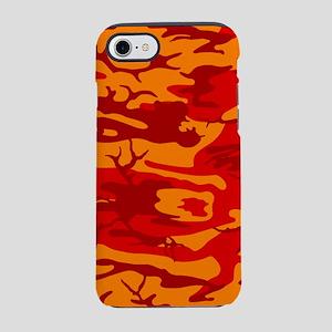 Lava Red Camo iPhone 7 Tough Case