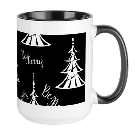 Be Merry Black Christmas Mugs