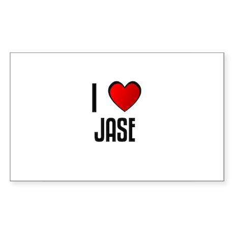 I LOVE JASE Rectangle Sticker