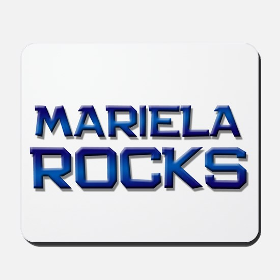 mariela rocks Mousepad