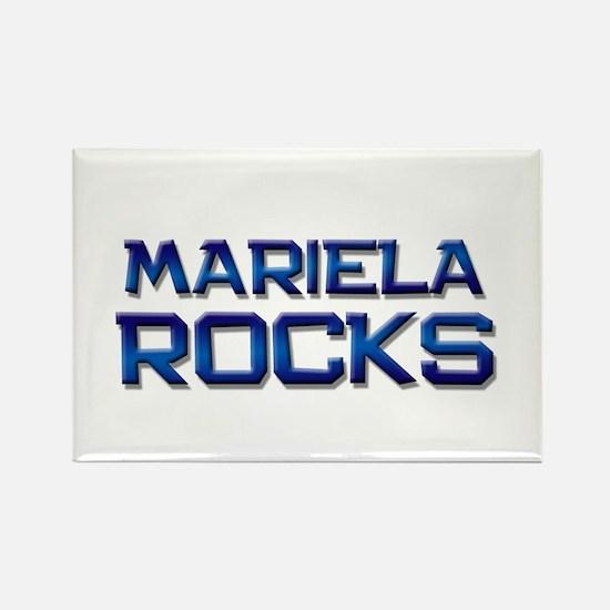 mariela rocks Rectangle Magnet