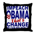 Impeach Obama Throw Pillow