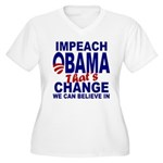 Impeach Obama Women's Plus Size V-Neck T-Shirt