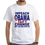Impeach Obama White T-Shirt