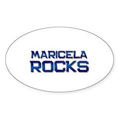 maricela rocks Oval Decal