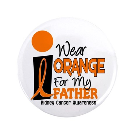 """I Wear Orange For My Father 9 KC 3.5"""" Button"""