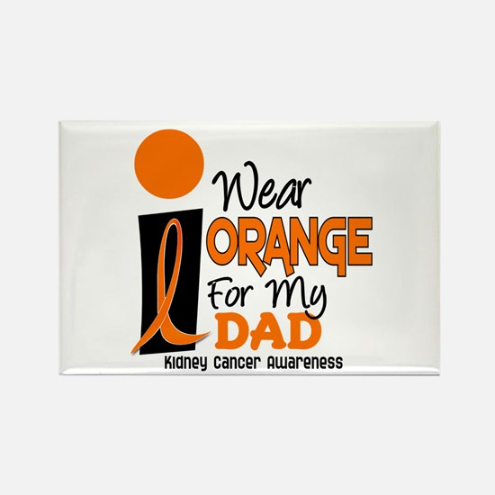 I Wear Orange For My Dad 9 KC Rectangle Magnet