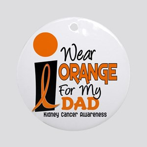 I Wear Orange For My Dad 9 KC Ornament (Round)